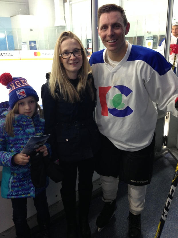 Sarah Fee, Amy Fee and Patrick Brown at the 2016 #ConservativeHockeyClassic